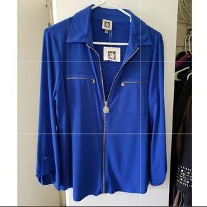 BOGO ♡ zip up blouse by Ann Klein
